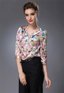Wholesale Office Lady′s Mulberry Silk Blouse in 2015 pictures & photos