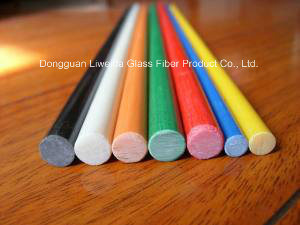 Good Flexibility Fiberglass FRP GRP Pultruded Bar/Rod with Light Weight pictures & photos