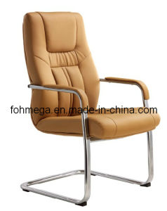 Beige Leather Bow Leg Side Chair Visitor Chair (FOH-B36-3) pictures & photos