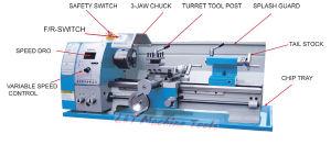 Manufacture of Micro Lathe Machine (Bench Lathe CQ6128B CQ6128V) pictures & photos
