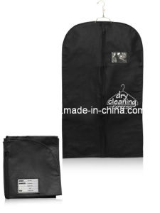 Shangqi Black Non Woven Garment Cloth Packing Bags Fi-01