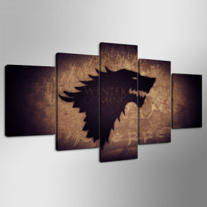 Game of Thrones Stark Poster Wool Framed Gallery Wrap Stretched Canvas New - Gallery Wrap Art Print Home Canvas Decor Mc-157 pictures & photos