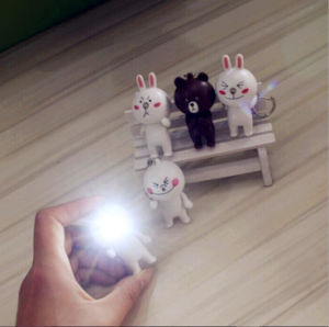 Simple Gifts LED Mini Cartoon Bunny Flashlight Keychain pictures & photos