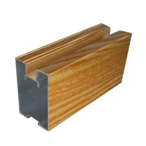 Electrophoresis Wood Aluminium Extrusion for Construction Profile pictures & photos