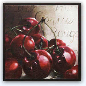 Hand Brush Stroke Canvas Oil Painting Frame Art - Still Life Fruit