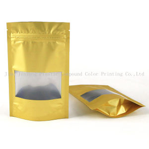 Stand up Coffee Plastic Packaging Bag with Zipper and Clear Window pictures & photos