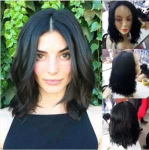 Middle Part Virgin Human Hair Lace Front Wigs pictures & photos