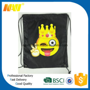 Cheap Promotion 210d Polyester Emoji Drawstring Bag pictures & photos
