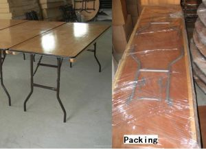 6 Foot Rectangle Wood Folding Banquet Table pictures & photos