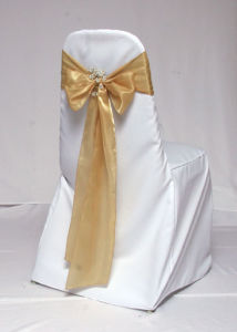 Gold Satin Sash, Chair Sash