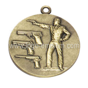 Custom Sport Event Medal Antique Brass Plated Lanyard Available pictures & photos