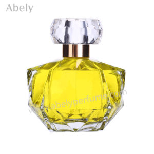 Irregular Shape Glass Perfume Bottle with Pump Sprayer pictures & photos