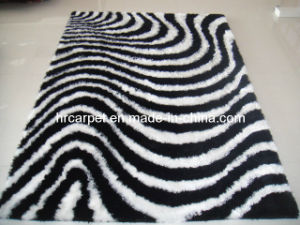 New Design Handmade 3D Polyester Shaggy Rug Carpet (HX-021)