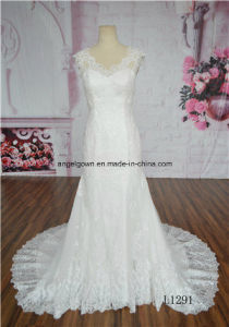 2016 Wholesale New Fashion Wedding Gown Sleeveless Modest Wedding Gowns pictures & photos