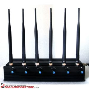 High Power 6 Antenna Adjustable WiFi 3G 4G Mobile Phone Signal Jammer pictures & photos