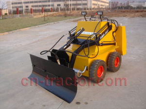 Mini Skid Steer Robot with Snow Blade pictures & photos