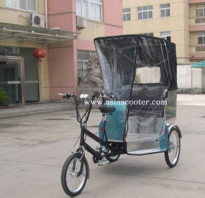 Promotion Pedal and Electric Rickshaw with Weather Cover (VS-T301E) pictures & photos