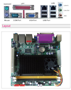 Atom D425. D525, 2X1000M LAN, Support DDR3, 4XCOM Ports Mainboard pictures & photos