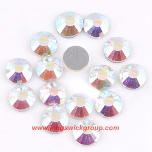 High Quality Machine Cut Heat Transfer Stone Hotfix Crystal Ab Rhinestones for Clothing pictures & photos