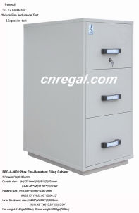 UL 2 Hours Record Protection Cabinet (FRD750-II-3001) , Fire Resistant Filing Cabinet, High Tech Vertical Fireproof File Cabinet, Steel Storage pictures & photos