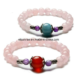 Semi Precious Stone Crystal Fashion Jewellery Bracelet (ESB01297) pictures & photos