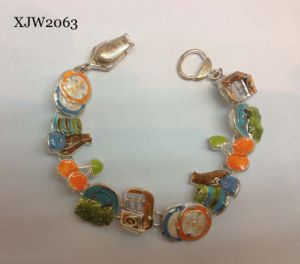 Enaml Fruit Bracelet with Magnet End (XJW2063) pictures & photos