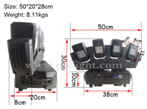 4heads LED Moving Head Beam Effect Light pictures & photos