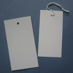 Hang Tags in PVC, Pre-Strung or Un-Strung