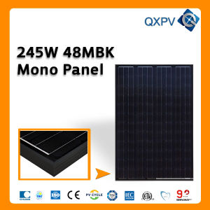 48V 245W Black Mono Solar Panel pictures & photos