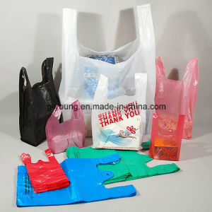 Plastic T-Shirt Bag Rolling Bag pictures & photos