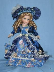 "12"" Porcelain Victorian Doll (03CB1625C-2)"