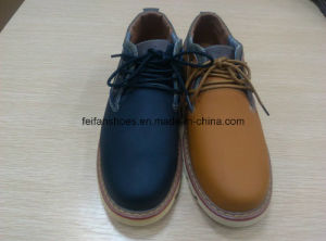 Latest High Quality Leather Sport Shoes Stock (FF616-1) pictures & photos