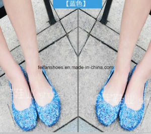 Lady Latest High Quality Crystal Jelly Sandals (FF614-4) pictures & photos