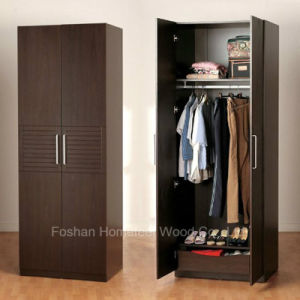 Free Standing Bedroom Wooden Wardrobe (HF-EY077) pictures & photos