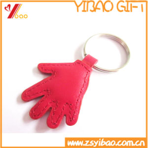 Promotion Gift Hand Shaped Leather Keychain with Custom Logo pictures & photos