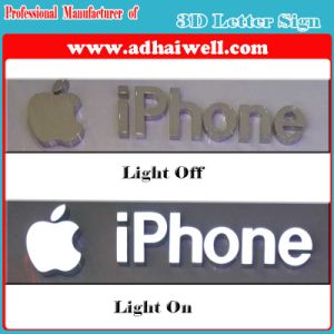 3D Brushed Metal Stainless Steel or Acrylic LED Signage pictures & photos