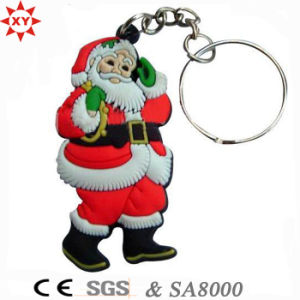 Promotion Christmas Gift PVC Keychain with Key Ring pictures & photos