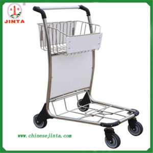 Stainless Steel Airport Luggage Trolley Without Brake (JT-SA08) pictures & photos