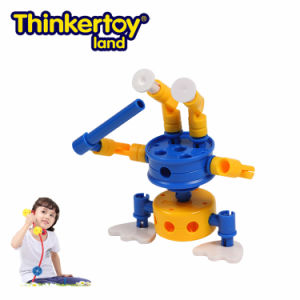 Thinkertoy Land Blocks Educational Toy Robot Series Alines Come Saucer Man (R6101)
