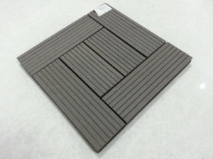 Hot Sale Grooved WPC Outdoor DIY Decking Tile Wood Decking Tile pictures & photos