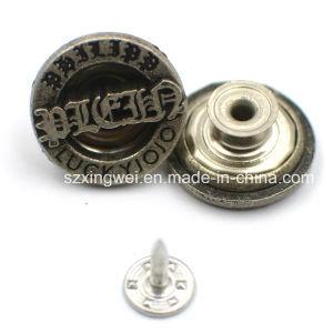 Vintage Old Fashion Metal Zinc Alloy Jeans Button pictures & photos