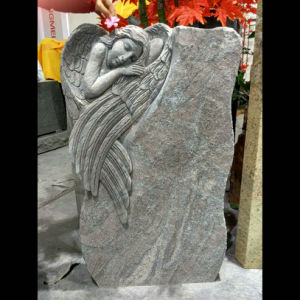 Flamed Finish Paradiso Granite Angel Gravestone pictures & photos