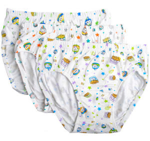 Custom Made Good Quality Comfortable Soft 100%Cotton Knitted Boy Briefs pictures & photos