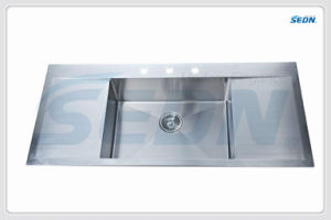 Handmade Single Bowl Stainless Steel Sinks with Drainer (SB3004) pictures & photos