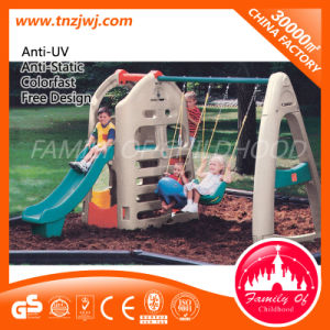 Wholesale Cheap Plastic House with Swing Set From Guangzhou pictures & photos