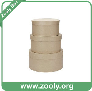 Natural Brown Kraft Cardboard Paper Round Nesting Hat Box pictures & photos