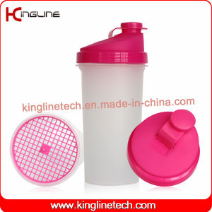 700ml Plastic Protein Shaker Bottle with Filter(KL-7013) pictures & photos