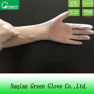 Phthalate Free Clear Powdered Vinyl Gloves pictures & photos