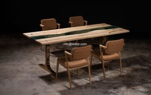 (SL-8305) Hotel Restaurant Home Dining Furniture Solid Wood Dining Table pictures & photos