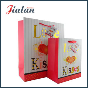 Wholesales Gold Hot Stamping Printed Logo Womans Carry Paper Bag pictures & photos